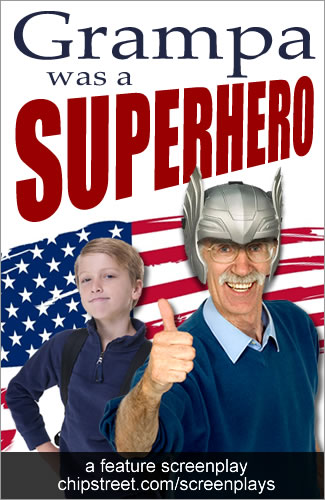 grampa was a superhero movie poster