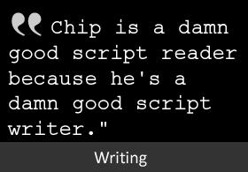 marketing writing, screenplays