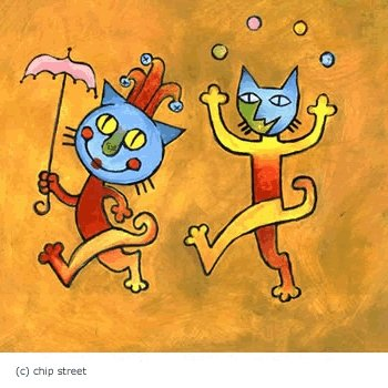 Gatos Locos - Wine Label Illustration