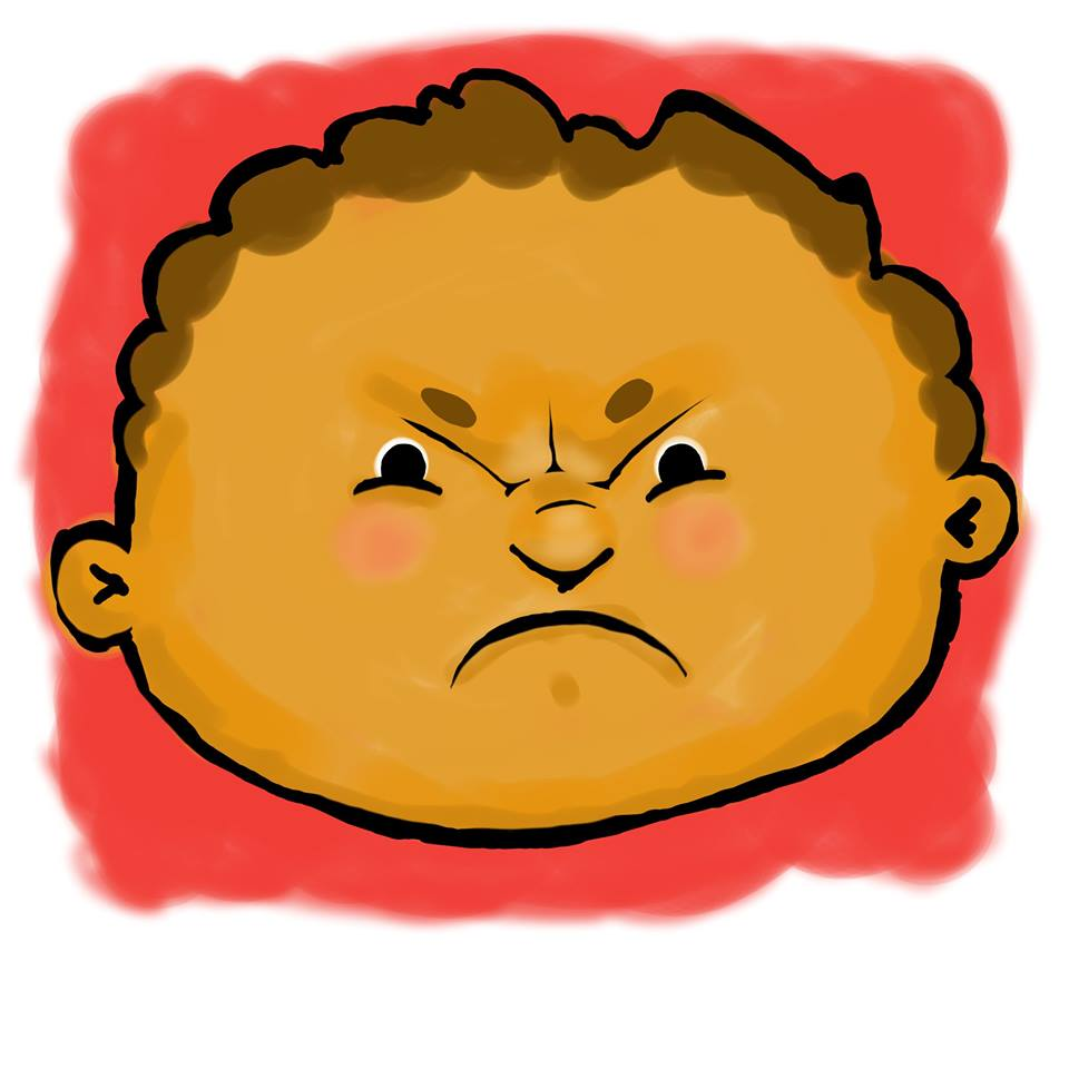 angry face children's book illustrations